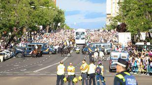 Celebración del Real Madrid en la capital, en una imagen de archivo.