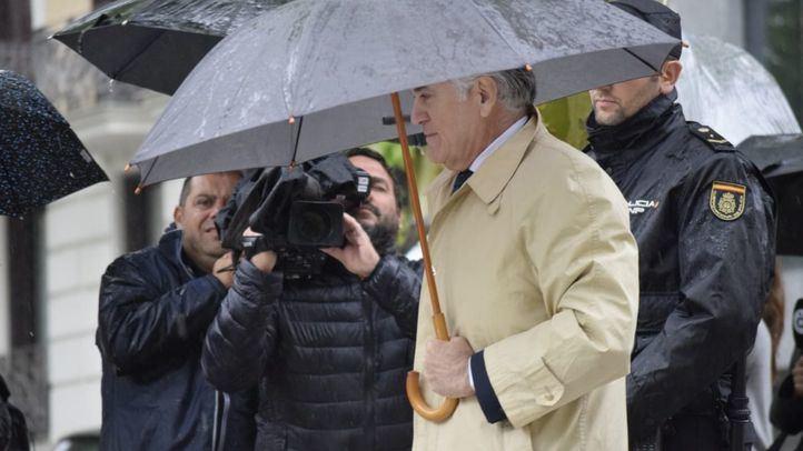 Luis Bárcenas, a su llegada a la Audiencia Provincial de Madrid