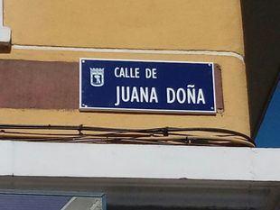 Juana Doña ya tiene su calle en Arganzuela