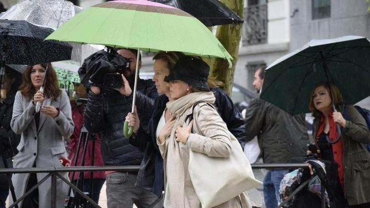 Rosalía Iglesias, esposa de Luis Bárcenas, a su llegada a la Audiencia Provincial de Madrid