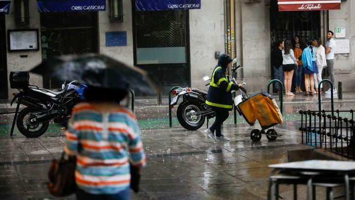 Foto de archivo de una tormenta veraniega en Madrid