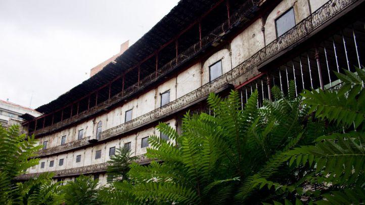 Imagen de archivo del antiguo frontón, situado en Chamberí.
