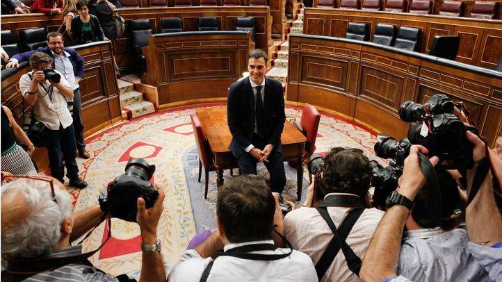 Pedro Sánchez, tras ganar la moción