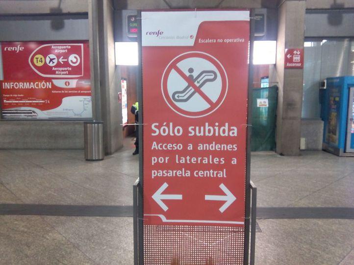 Renfe deja 12 escaleras paradas de 'segundo plato'
