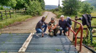 Agentes forestales rescatan a un perro ciego de un foso canadiense