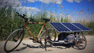 Una bicicleta solar para potenciar el uso de renovables