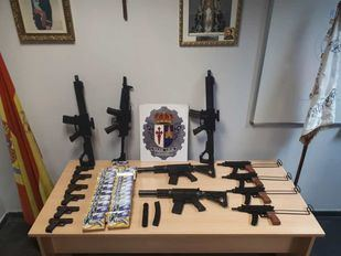 Intervenidas 39 armas de aire comprimido en una feria de Aranjuez
