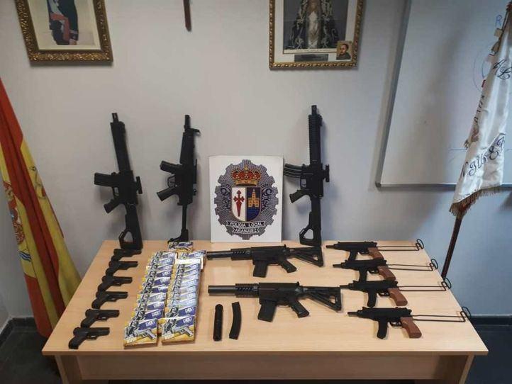 La Policía Local interviene 39 armas de airsoft en una feria de Aranjuez