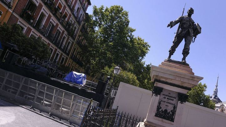 Monumento a Eloy Gonzalo en la Plaza del Cascorro.