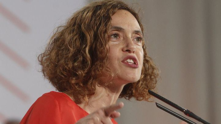 Meritxell Batet en un mitin del PSOE en Valdebernardo.