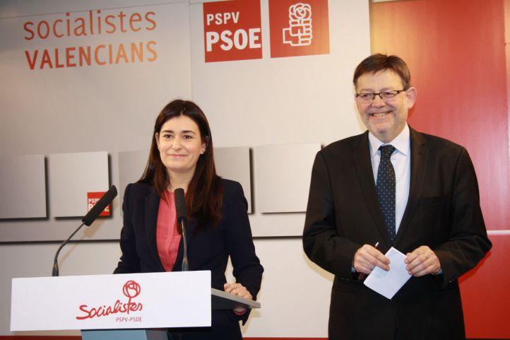Carmen Montón y Ximo Puig.