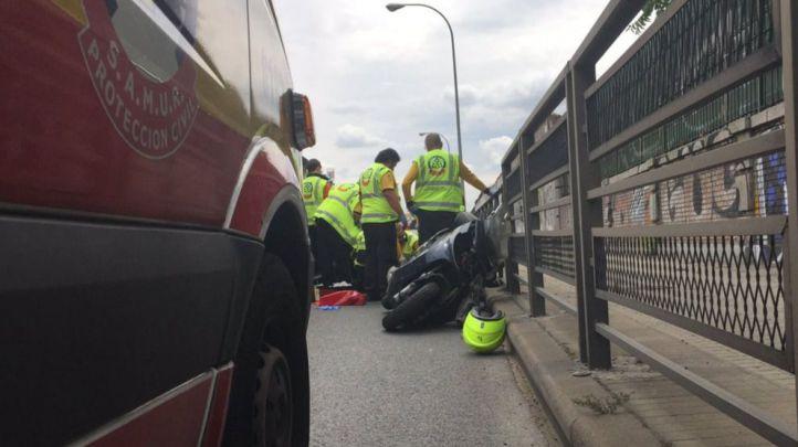 Muere un motorista tras chocar con un coche en la carretera de Extremadura