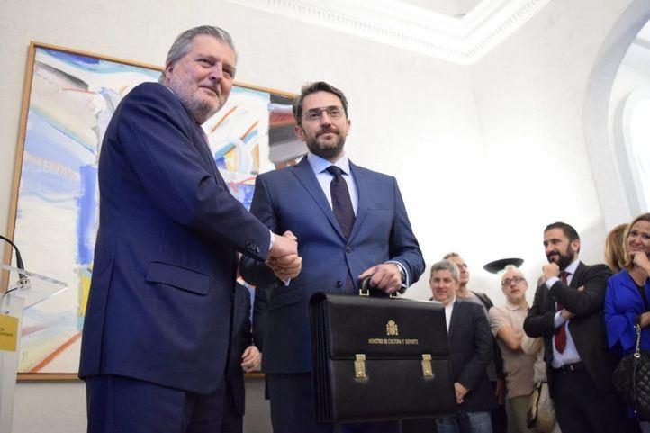 Traspaso de carteras. Màxim Huerta, nuevo ministro de Cultura y Deporte.