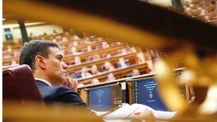 Pedro Sánchez, en la moción de censura
