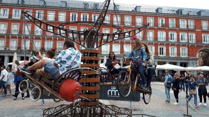 La Plaza Mayor se convierte en un parque de atracciones