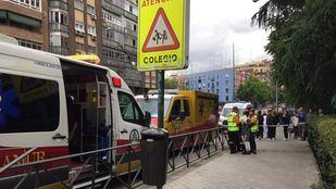 Un conductor sufre un infarto e invade la acera en Arganzuela