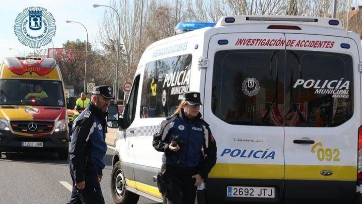 Atropello de un ciclista en el Paseo del Prado