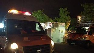 Vehículos de protección civil en las fiestas de Coslada.