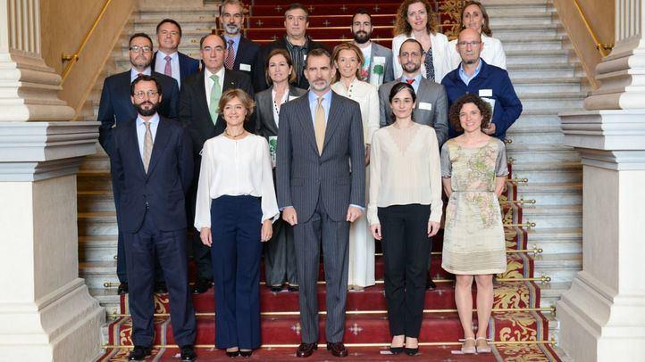 Foto de familia del Premio Europeo de Medio Ambiente a la Empresa 2017, en el que Sacyr ha logrado un Accésit con su proyecto Cirtec