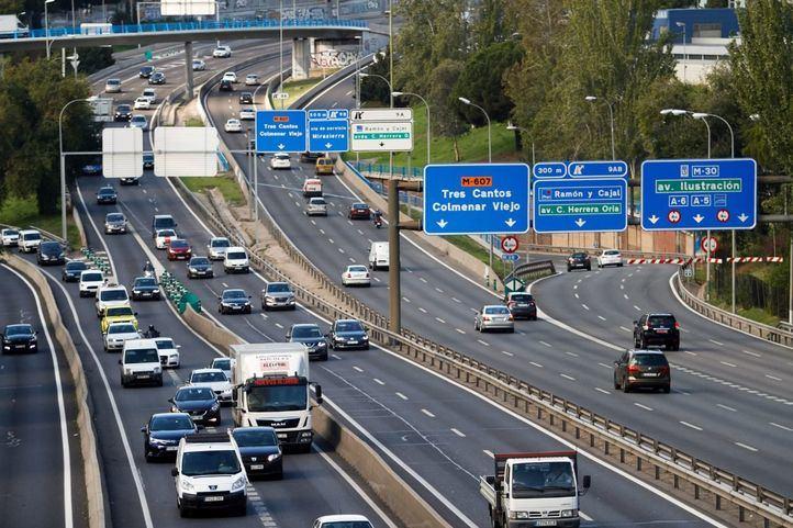 El tráfico de la M-30, a tiempo real desde la web de Emesa