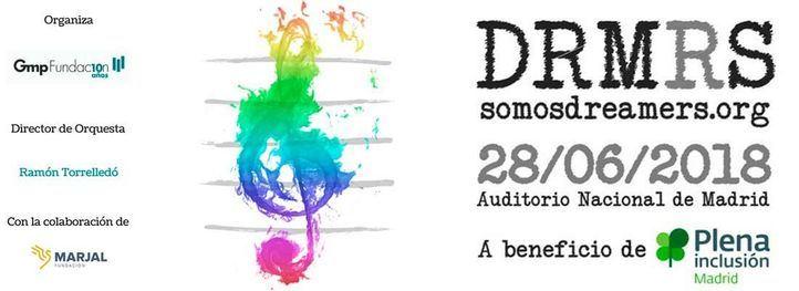 Cartel del concierto de la Orquesta Dreamers en el Auditorio Nacional