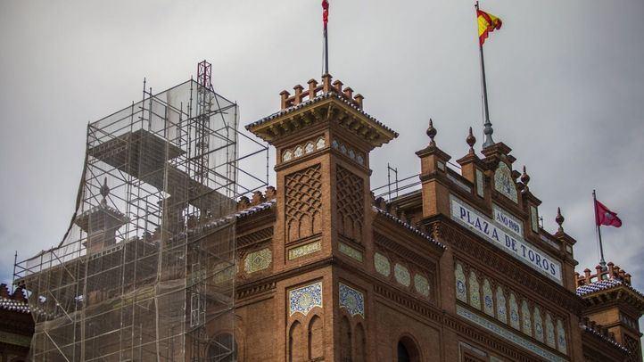 Obras en la plaza de toros de Las Ventas.