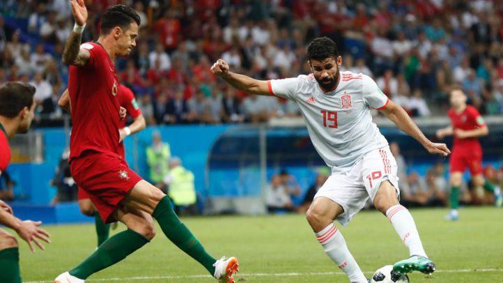 España empieza con empate a tres frente a Portugal