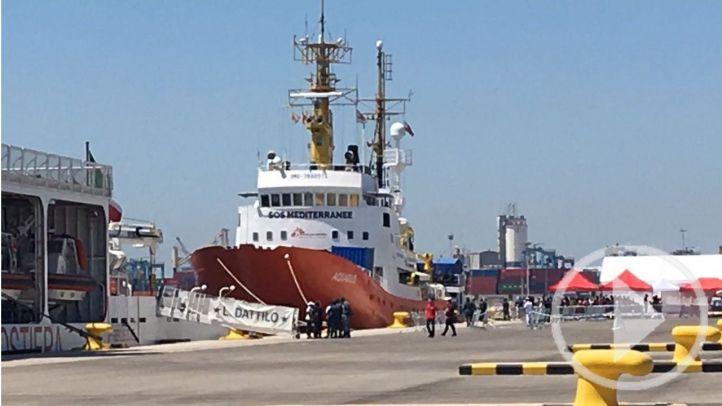 Llegan a Valencia los 629 migrantes del Aquarius