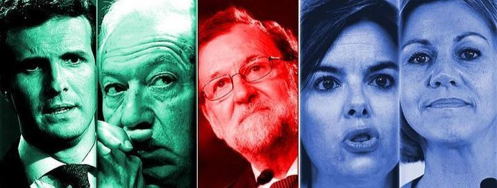 Montaje de los cuatro candidatos con más posibilidades de suceder a Mariano Rajoy al frente del Partido Popular.