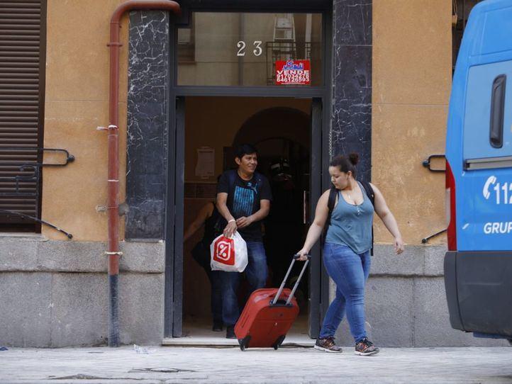 Las obras de la corrala derrumbada en Chamberí empezarán de forma