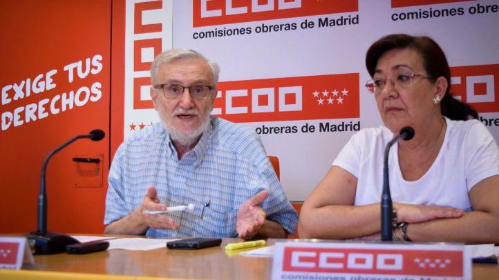 Marciano Sánchez y Rosa Cuadrado denuncian en rueda de prensa el deterioro de la Atención Primaria en la Comunidad de Madrid.