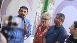 Ramón Espinar, en Leganés, municipio con los resultados pendientes de revisión.