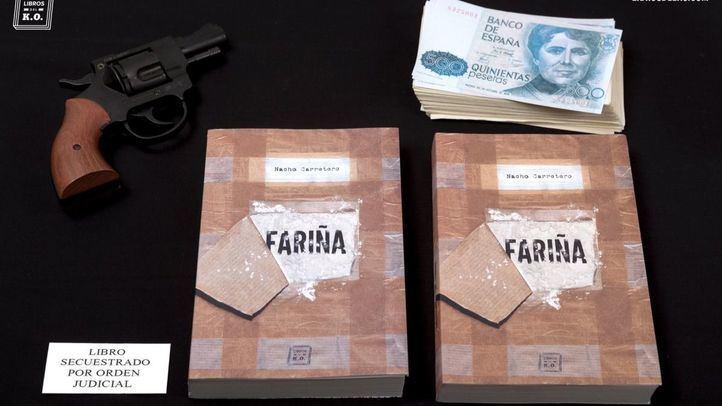 Imagen colgada por la editorial de Fariña para denunciar su secuestro.