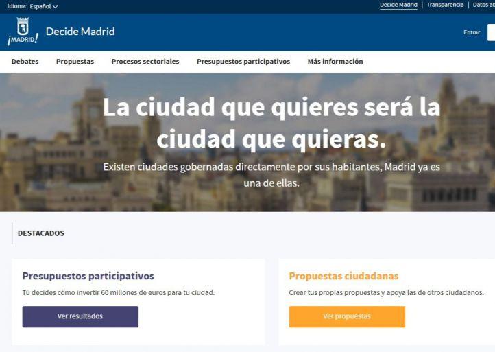 Urnas para votar por los proyectos de Decide Madrid