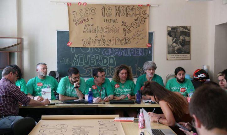 Educación ofrece una reunión a CCOO el 29 de junio