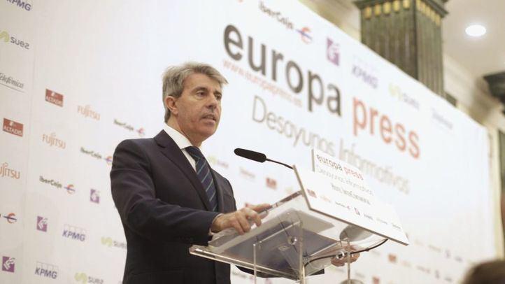 Ángel Garrido en los desayunos de Europa Press
