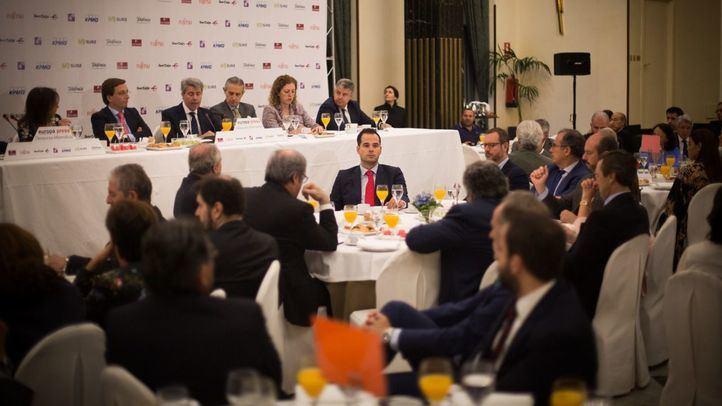 Ignacio Aguado, en el desayuno informativo.
