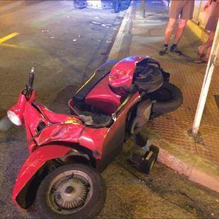 Dos heridos en una fuerte colisión en el Paseo de la Habana