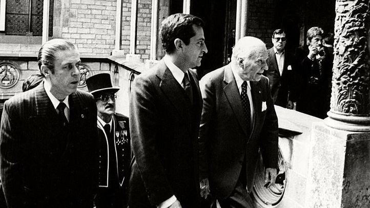 Adolfo Suárez junto a Josep Tarradellas.