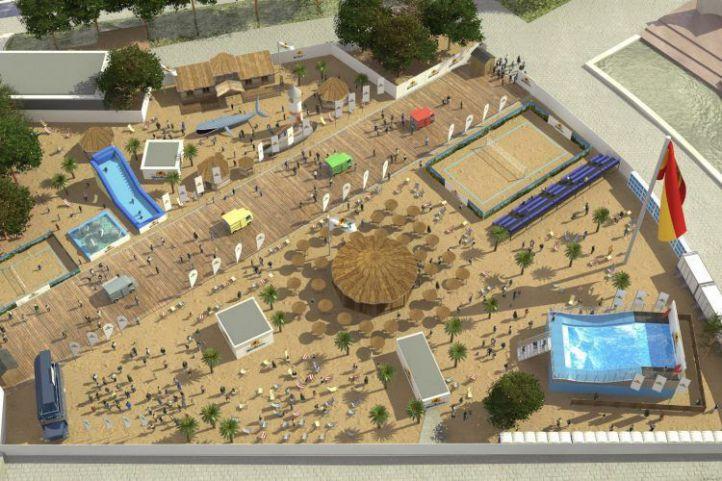 Los vecinos 'desmontan' la playa de Colón