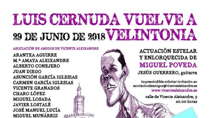 Cartel de la velada en Velintonia el próximo 29 de junio.