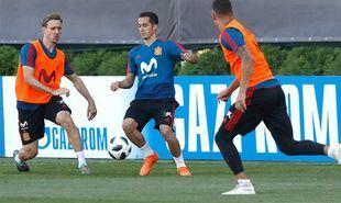 Entrenamiento de la Selección Española antes de enfrentarse a Rusia.