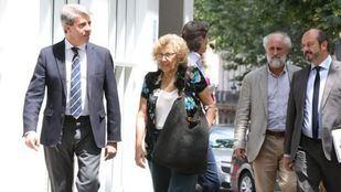 Manuela Carmena y Ángel Garrido, tras la comida acontecida este viernes.