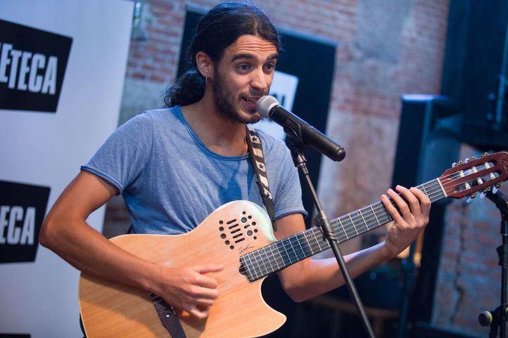 En el acto, ha interpretado una canción Pedro Pastor que actuará el primer día del festival Ibermedia.