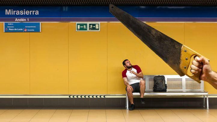 La estación de Mirasierra también ha recibido la visita de los jóvenes de De Madrid al Metro.