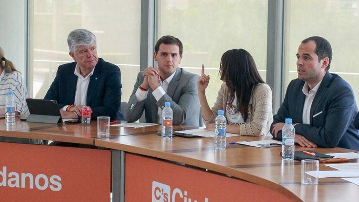 Imagen de archivo de una reunión de la dirección de Cs.