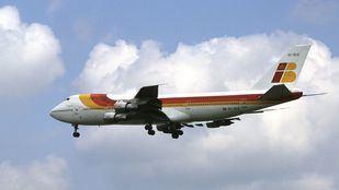 Boeing 747-200 de Iberia en los ochenta.