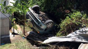 Una persecución policial en la Cañada termina en un aparatoso accidente