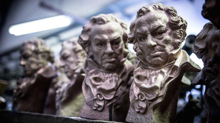 Los tradicionales 'cabezones' de los Premios Goya.