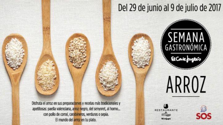 Semana Gastronómica de los Arroces en los restaurantes de El Corte Inglés